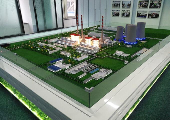 山东淄博华电热电厂模型