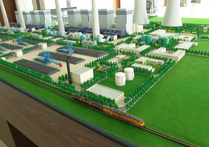 山西鲁能电厂模型