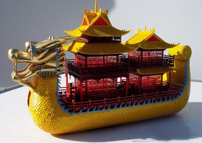 观光船模型
