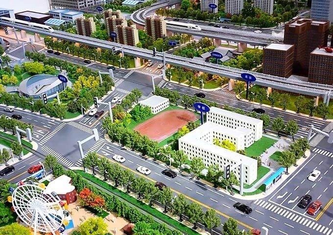 城市交通沙盘展示